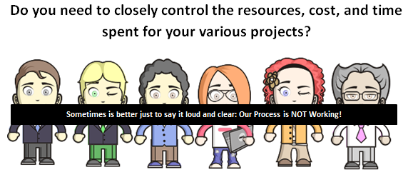 Do you need to closely control the resources, cost, and time spent for your various projects?