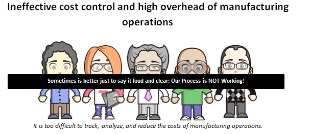 Ineffective cost control and high overhead of manufacturing operations